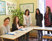Students in an intensive spanish course