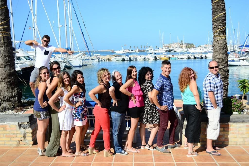 The team of TLCdenia school in the port of Denia