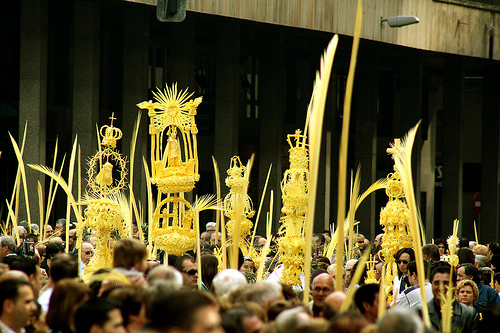 Palm Procession in Easter in Elche, Spain