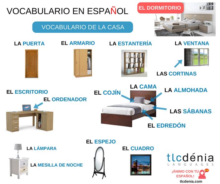 Vocabulary-Spanish-Bedroom