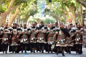 Parade of the festival Moros y cristianos in Denia