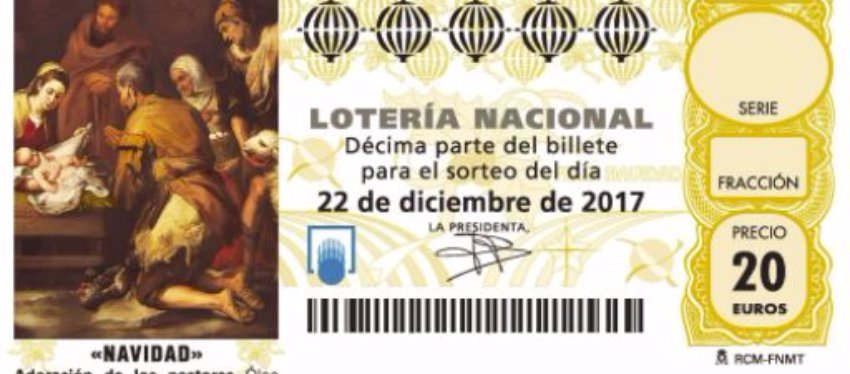 Spanish lotterly - tenth of a share of a ticket