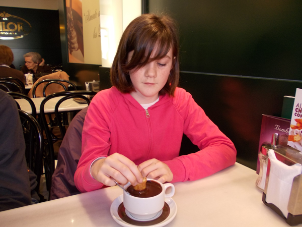 Student of the Spanish program for children at Valor Chocolate Shop