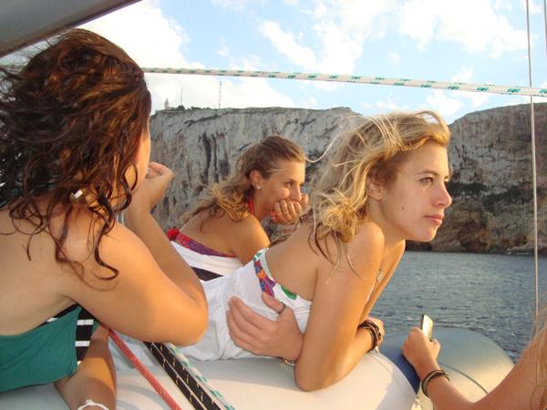 Teenagers enjoying the views in Denia