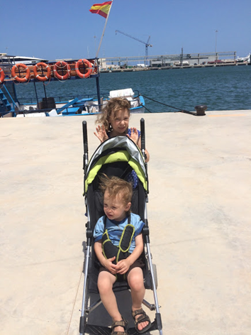 children in denia's port