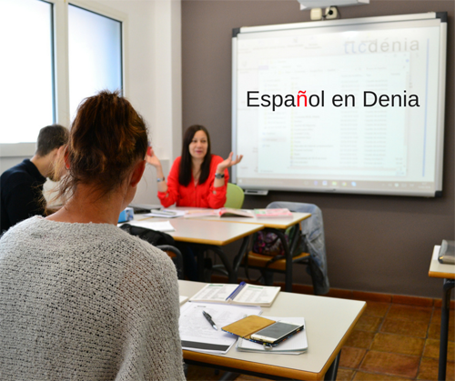 Students during a Spanish course in Denia