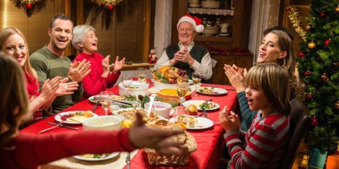 Spanish Family during Christmas
