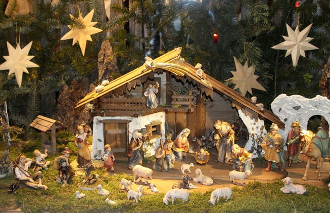 Typical Spanish Christmas decoration: el Belen
