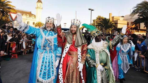 The three kings during Christmas in Spain