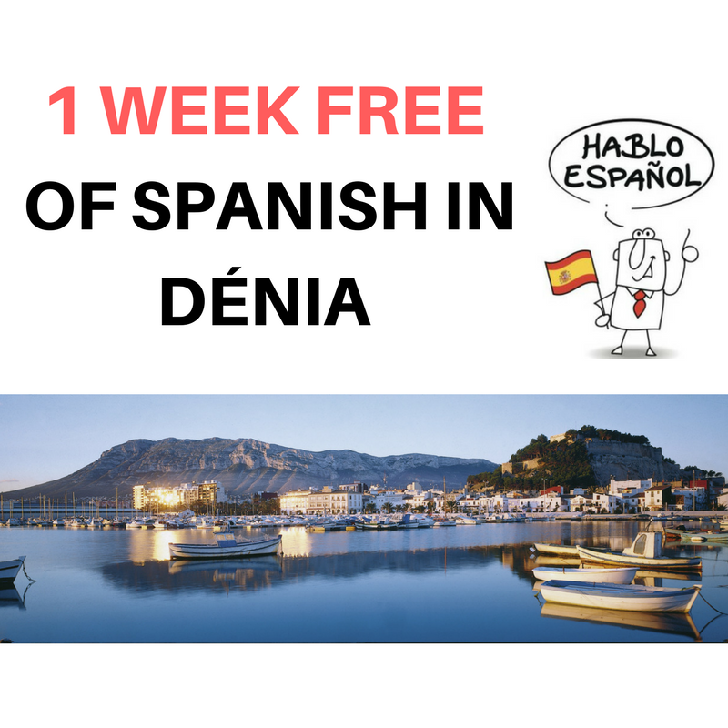 One Week Free Spanish Course Denia