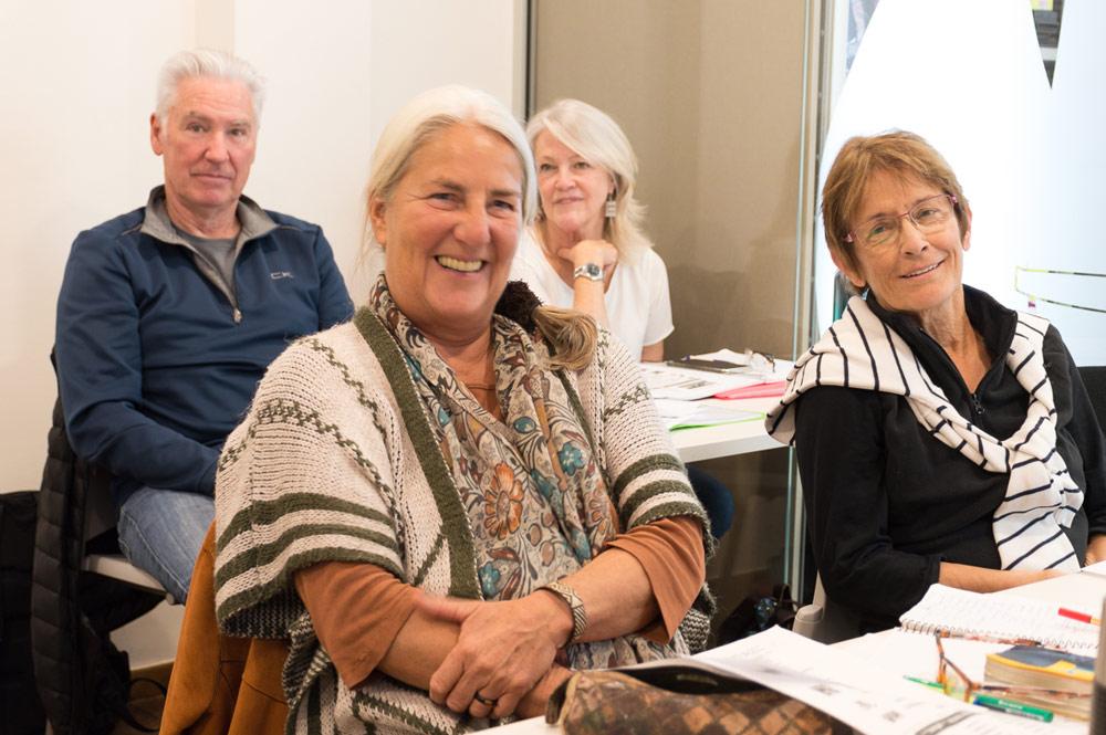 4 adults in a class of Spanish in Denia