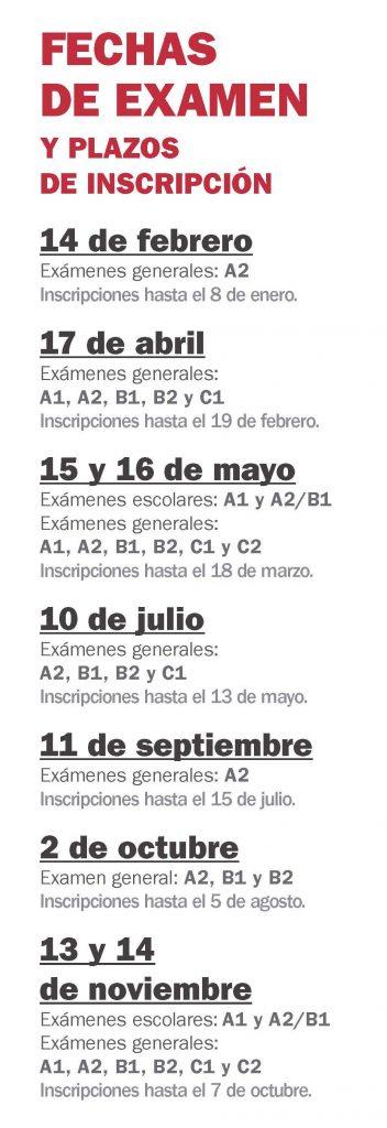 DELE exams dates