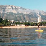 Person doing kayaking in Denia in Spain