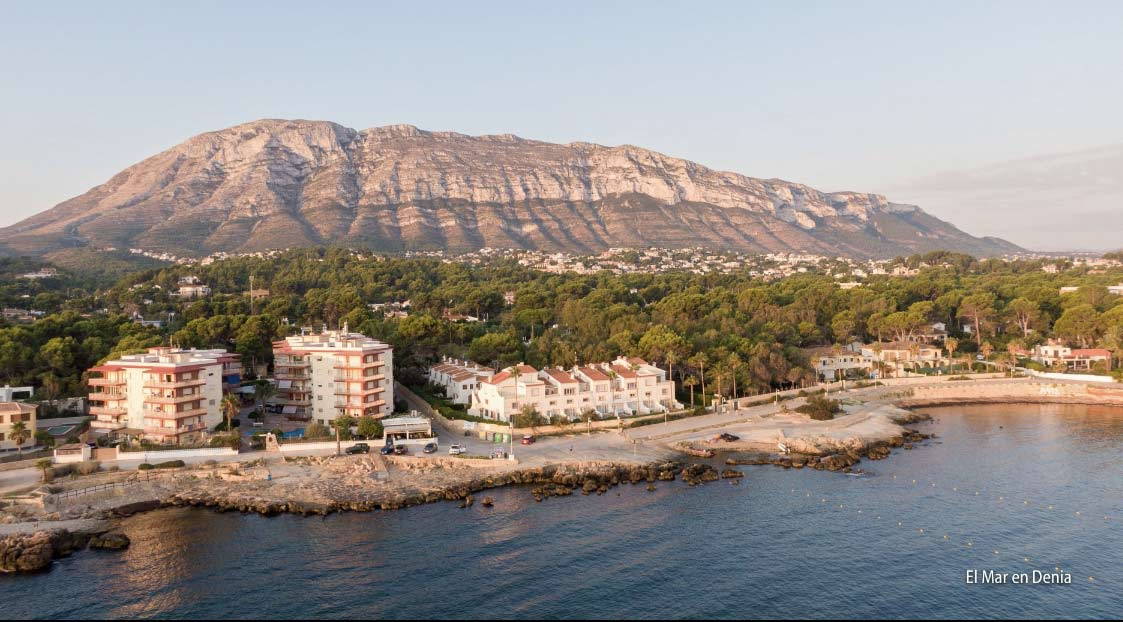 Seaview of Denia in Spain from a dron