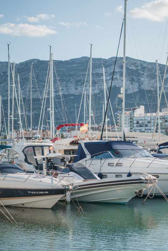 Port of Denia where spanish courses in spain with accommodation take place