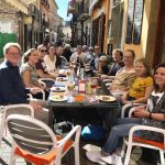 Students eating tapas together after the course