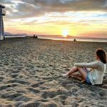 coucher de soleil sur la plage de Dénia, costa blanca, en Espagne