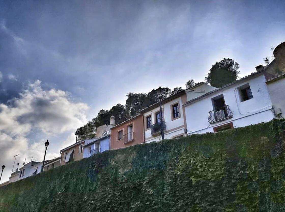 mur du château de Dénia, costa blanca, en Espagne