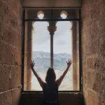 fenêtre du château de Dénia en Espagne