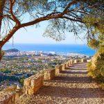 vue montagne de Dénia en Espagne