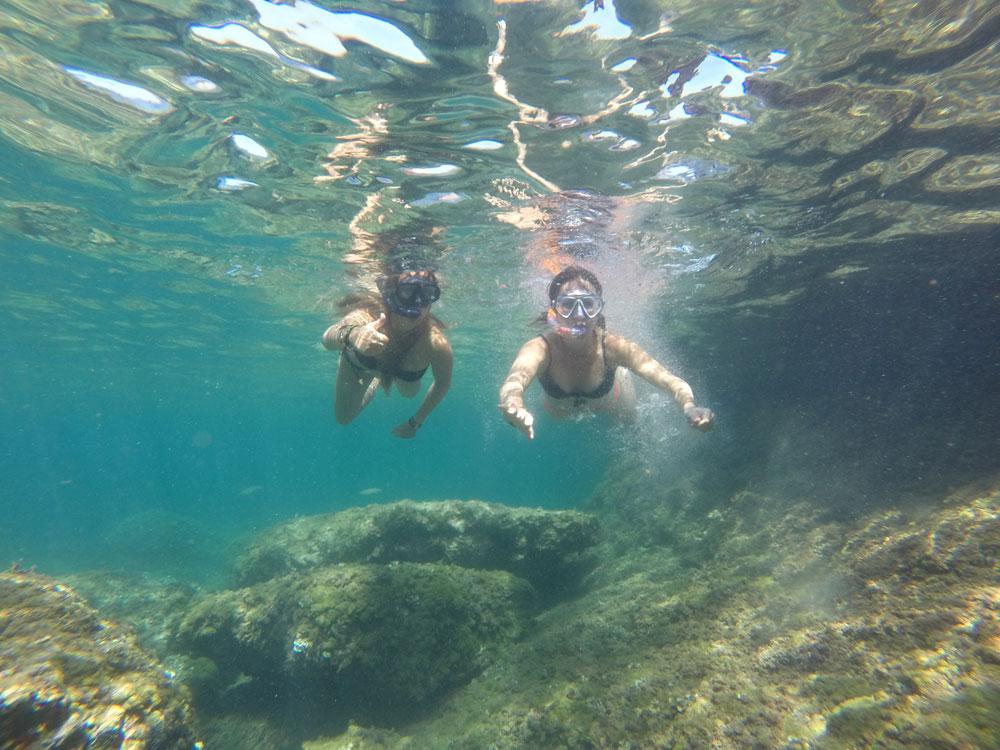 snorkling v denii