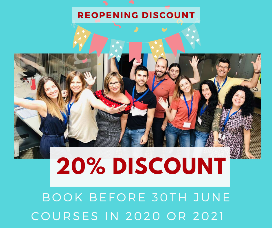Discount on Spanish courses booked before 30th June