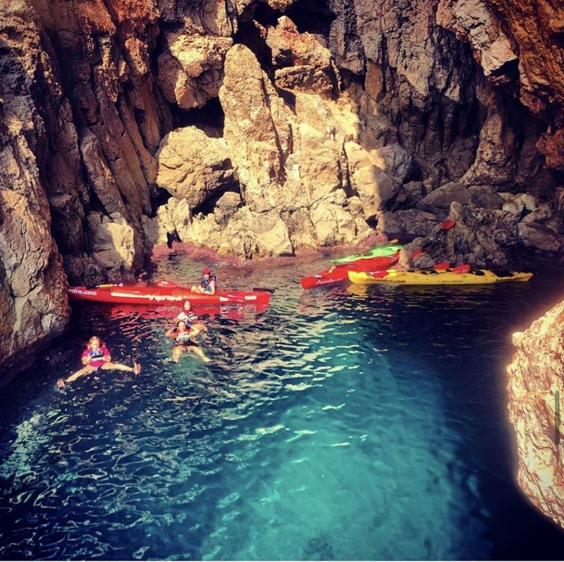 Practising water sports in Denia