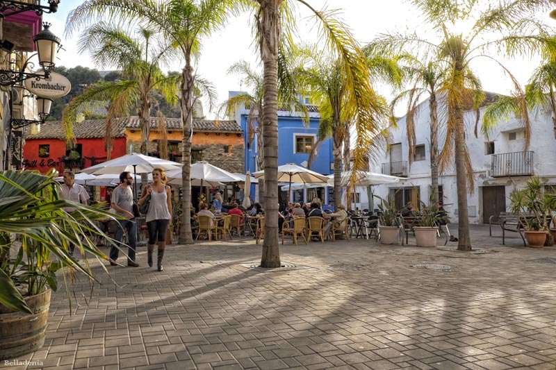 Beautiful terraces to enjoy while learning Spanish in Denia