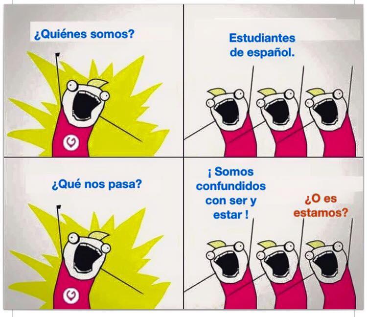 joke about verbs ser and estar in spanish