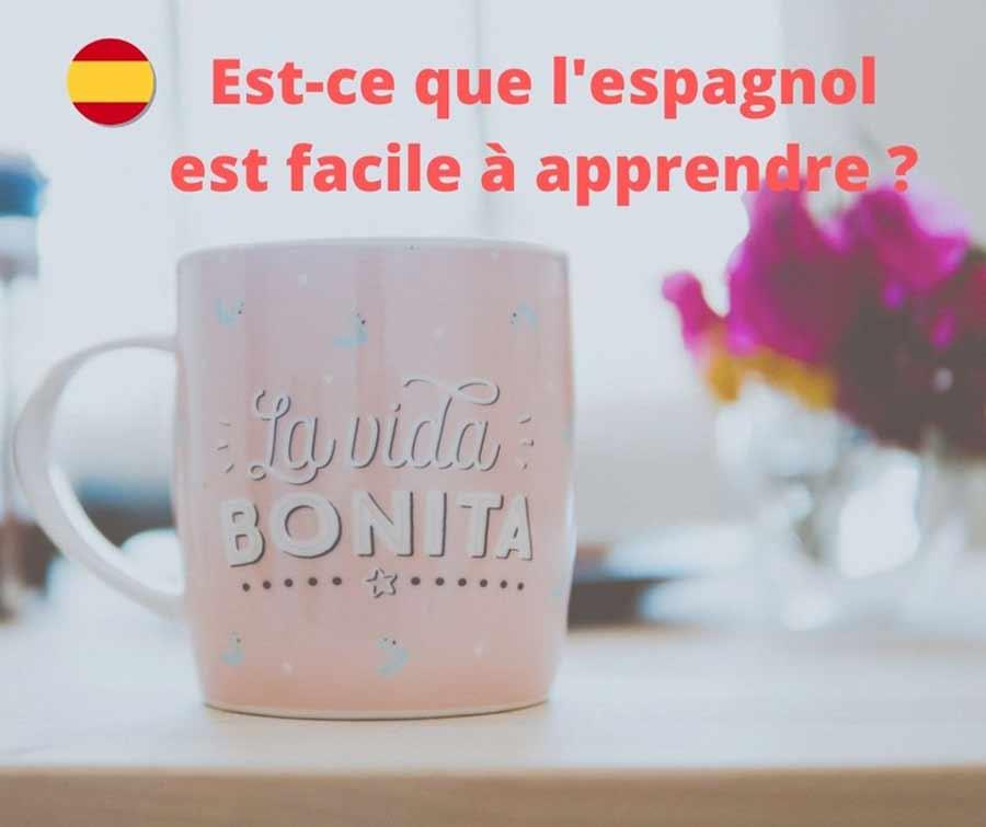 l'espagnol est facile à apparendre