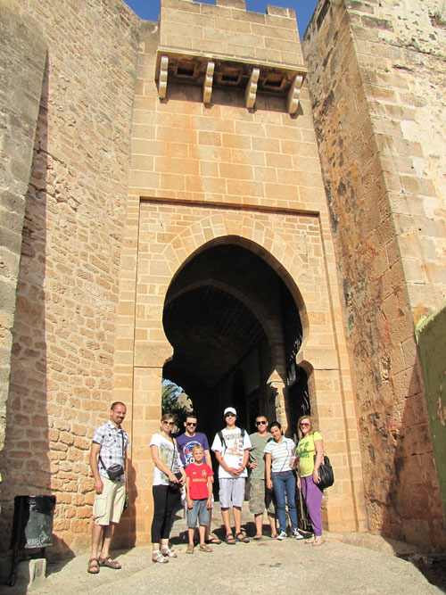 Students of Spanish at the Denia's castle door