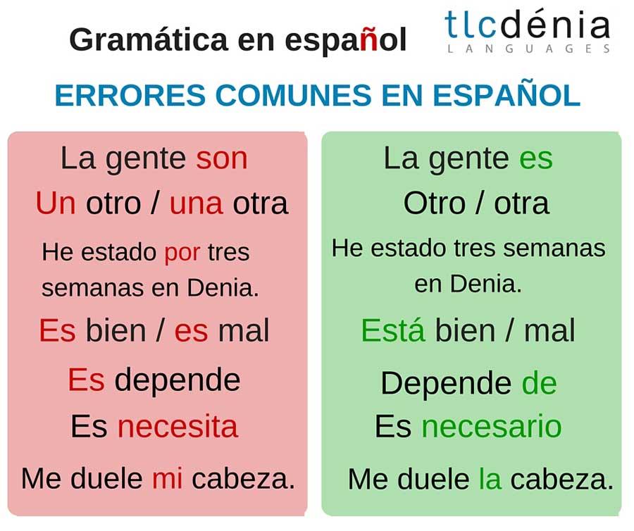 common mistakes in Spanish