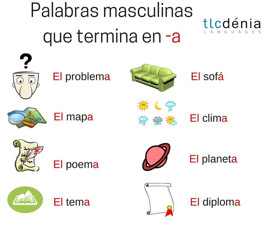 common mistakes in Spanish: masculin