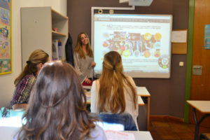 Students in the Spanish courses for adults